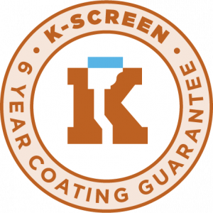k-screen 6 year coating guarantee